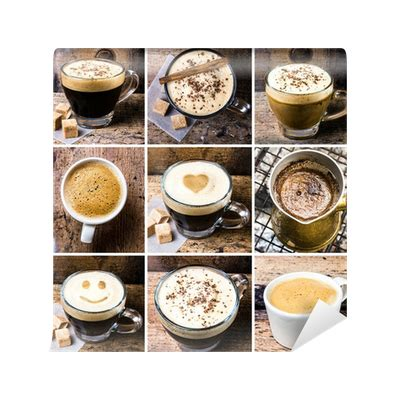 Feellife Mocha Coffee Latte coffee collage with coffee espresso cappuccino latte and mocha wall mural pixers 174 we live