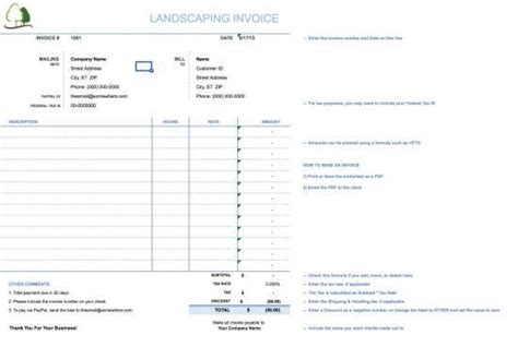25 Free Invoice Templates For Ms Word Xdesigns Landscaping Invoice Template