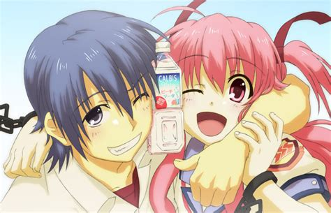 cute anime couples angels angel beats yui images hinata and yui hd wallpaper and