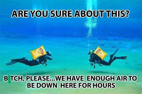 Scuba Diving Meme - lays potato chips funny pinterest