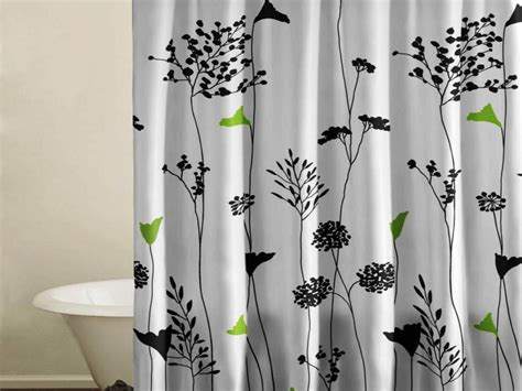 Shower Curtains White Fabric Antique Black And White Fabric Shower Curtain Set Bathroom Design Remove Mold Stain White