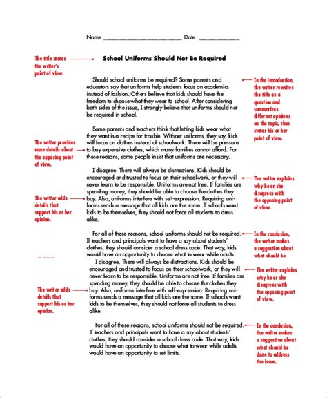 How To Write A Persuasive Essay Template by Persuasive Essay Exle 8 Sles In Word Pdf