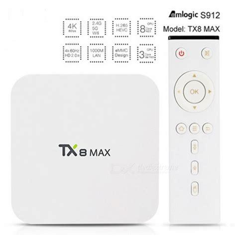 Tx8 Max Tv Box 4k Amlogic S912 3gb Ddr4 16gb Android 6 0 Kodi tx8 max android 6 0 amlogic s912 tv box w wi fi 3gb