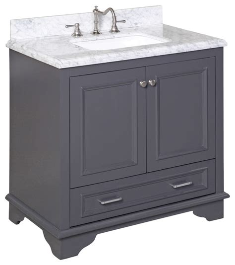 charcoal grey bathroom vanity nantucket 36 quot bath vanity carrara charcoal gray