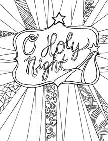 free adult coloring page printable christmas clumsy