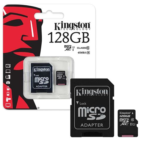 Micro Sd 128gb 128gb kingston micro sd sdxc memory card class 10 45mb s with sd adapter 128gb ebay