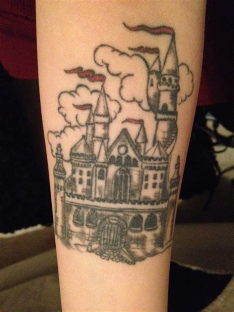 fairytale tattoos castle tale this is on my left forearm