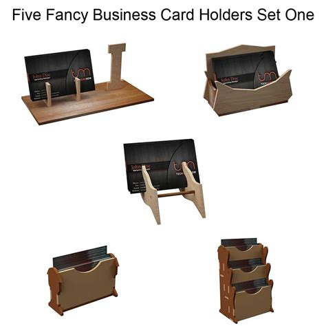 Laser Cut Business Card Holder Template Fancy Business Card Holders Set One Cardholders Makecnc Com
