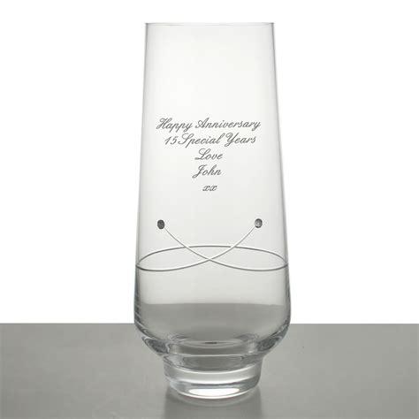 Personalised Vase by Personalised Diamante Celebration Vase