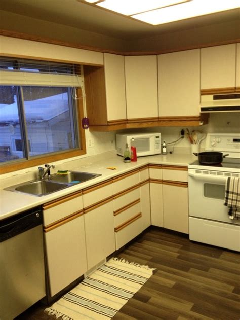 white kitchen cabinets with oak trim white laminate kitchen cabinets with oak trim thank you