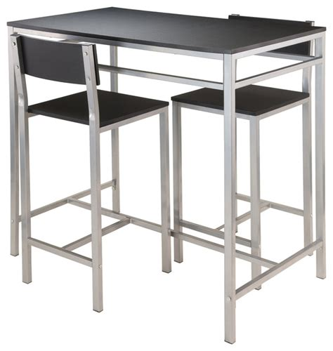 Bistro Table And Stools Set by Hanley 3 Set High Table With 2 High Back Stools