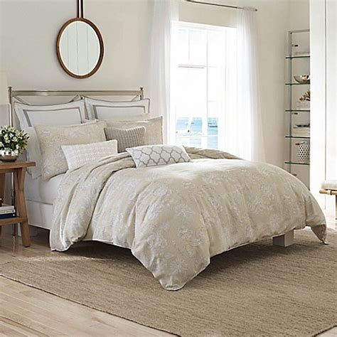 beige twin comforter nautica 174 sandy creek comforter set in dark beige bed