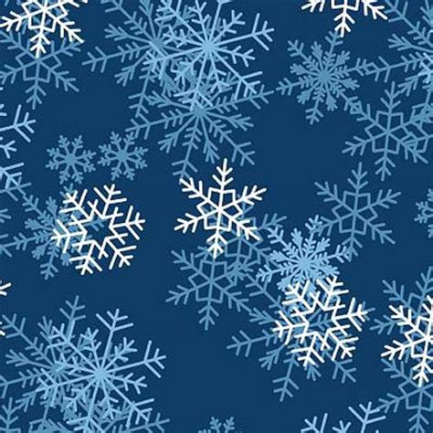 printable blue snowflakes blizzard dark blue snowflakes fleece fabric print by the