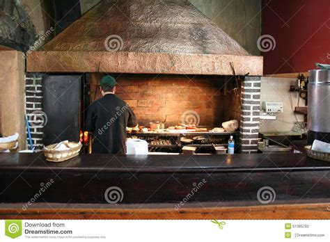 Charcoal Grill Restaurant by Open Aire Grill In Antigua Guatemala Restaurant Stock