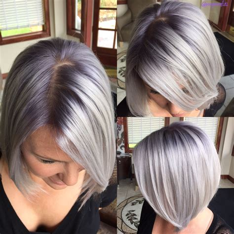What Color To Use To Color Roots And Covebr Gray On Highlighted Hair | the journey classic blonde to pink root shadow to