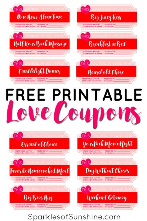 printable love coupons best 25 love coupons ideas on pinterest coupon books