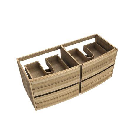 meuble salle de bain tiroir meuble sous vasque fairway bois l119xh51 5xp50cm 4