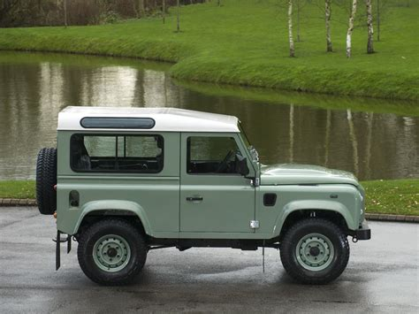 land rover green 2015 land rover defender 90 heritage station wagon