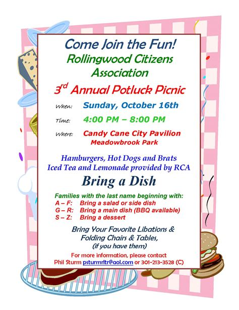 2011 potluck picnic rollingwood citizens association