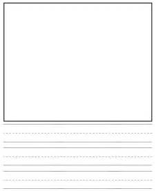 Kindergarten Writing Paper With Picture Box 16 Best Images Of Sentence Comprehension Worksheets