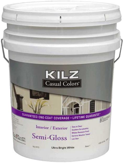 kilz mr61005 kilz casual colors int ext paint semi gloss tint base 1 5 gal at sutherlands
