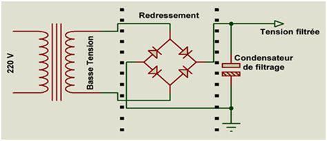 diodes redresseurs pont de diodes redresseur condensateur de filtrage