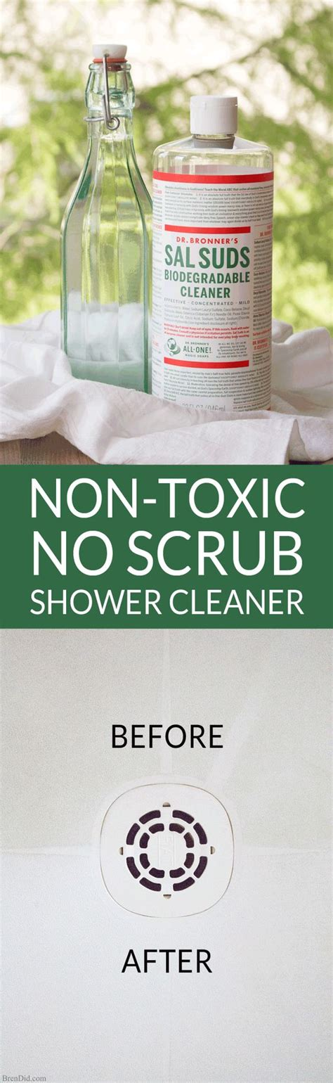 toxic  scrub shower cleaner clean shower shower cleaner  homemade