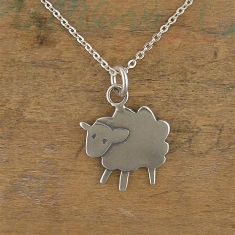sterling sheep necklace silver pendant or charm i