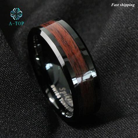 Sale Ring Plat Besi Ring Mut Diameter 2 5 Cm aliexpress buy 8mm s tungsten carbide ring wood inlay black plat wedding band ring