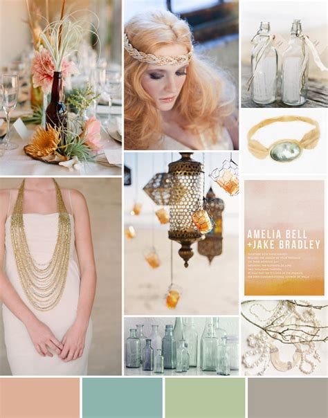 bohemian color scheme inspiration board 45 bohemian beach wedding green