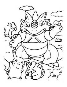 Pikachu And Pokemon Coloring Pages Big Bang Fish sketch template
