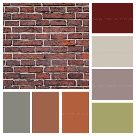 red brick house color schemes brick house colors on pinterest