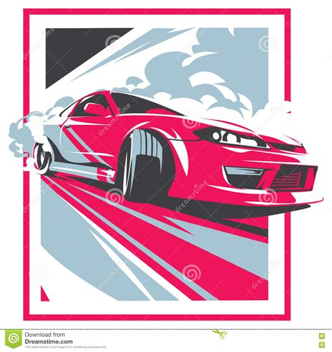 Tuning Sticker Vector by Burnout Car Japanese Drift Sport Racing