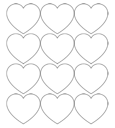 free printable heart templates large medium small