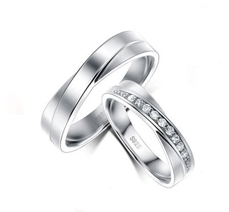 delicate sterling silver criss cross promise rings