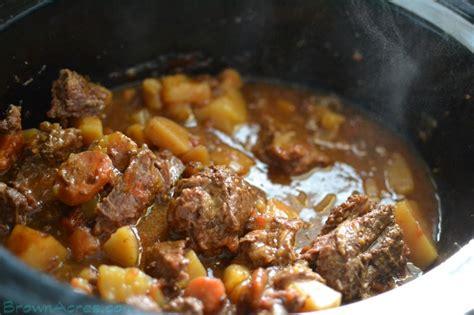 crock pot beef stew brown acres custom harvesting