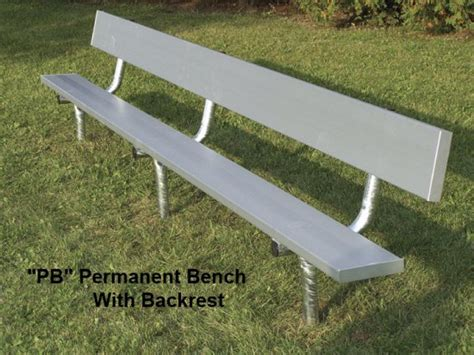 galvanized pipe bench be pb aluminum permanent bench with backrest galvanized pipe frame straight leg