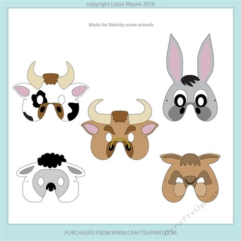 free printable nativity animal masks nativity scene masks cup743888 1940 craftsuprint