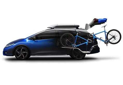 honda carrier honda civic tourer active concept gets special bike