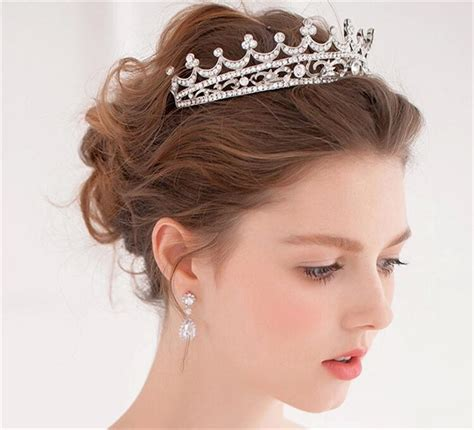 Wedding Hair With Crown stylish wedding hair crown for a hairstyle on your