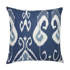 blue and light blue ikat pillow mecox gardens