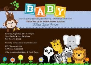 baby shower invitation animal safari jungle baby by
