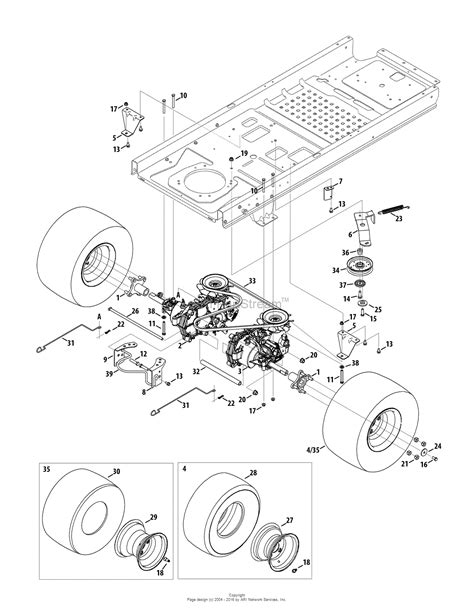 mustang parts diagram troy bilt 17arcacs011 mustang 42 xp 2015 parts diagram