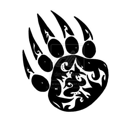 tribal paw tattoo paw tribal clipart best