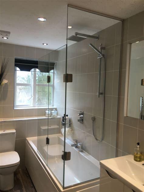 sided bath shower screen  fixed panel   bath