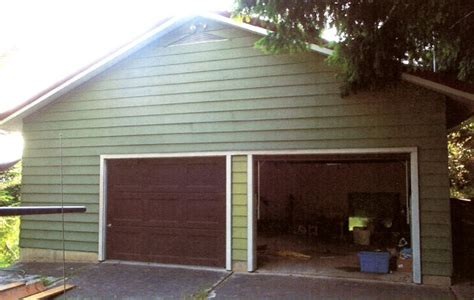 Garage Conversions Before And After by Garage Conversion Before And After Plywood On
