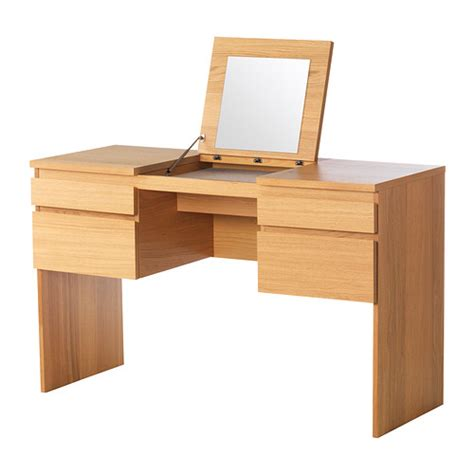 ransby dressing table with mirror oak veneer 125x50 cm ikea
