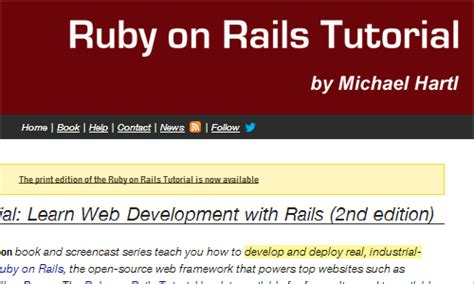 ruby tutorial website useful web design resources learning coding design