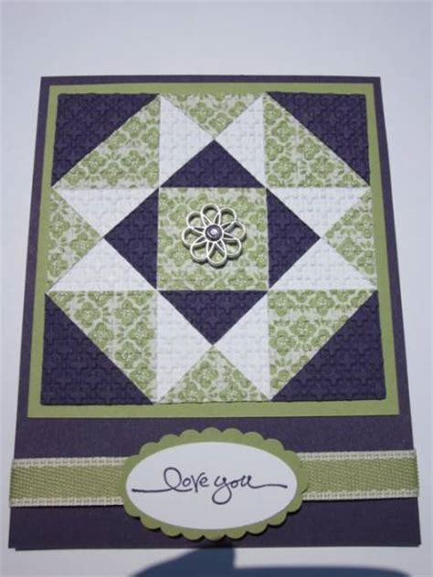 Quilt Paper Craft - quilt card by mhbookmom cards and paper crafts at
