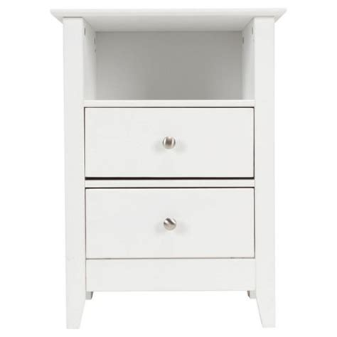 2 White Bedside Tables Buy Winton 2 Drawer Bedside Table White From Our Bedside
